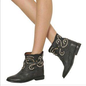 "Isabel Marant Caleen stud boots w/2"" hidden wedge"